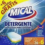 Mical 5 en 1 Detergente en Pastillas para Lavavajillas - 32 Pastillas