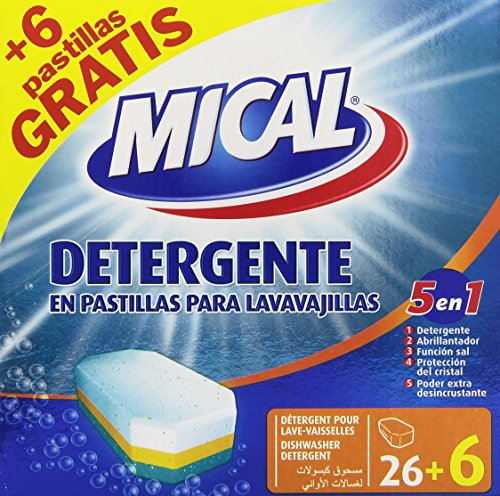 Mical 5 1 Detergente Pastillas Lavavajillas - 32 Pastillas