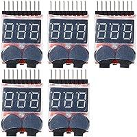 5X 1-8S LED Li-ion Lipo Indicator Checker Tester Low Voltage Buzzer Alarm Allarme Voltaggio display sonoro TE188