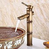 DESON Antike Messing Wasserhahn Design Bambusrohr Form Einhebelmischer Waschbecken Wasserhahn Kalt-und Warmwasser Becken Mischbatterien - FG 1024