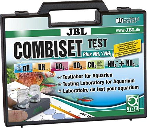 JBL Testkoffer für Wasserwerte inkl. Ammonium-Test für alle Aquarien , Test Combi Set Plus NH4, 25510