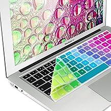 kwmobile protector de silicona para el teclado QWERTZ (Alemania) para Apple MacBook Air 13''/ Pro Retina 13''/ 15'' (a mediados de 2016) enDiseño Degrade de colores
