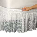 Lace Trimmed Bed Wrap Ruffle Bed Skirt, ...
