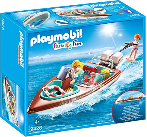 Playmobil- Lancha Motor Submarino Juguete