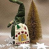Oblique Unique® 18 Holz Sterne Holzdeko Weihnachtsdeko Tischdeko Weihnachten Echtholz - Farbe wählbar (Weiss) - 4