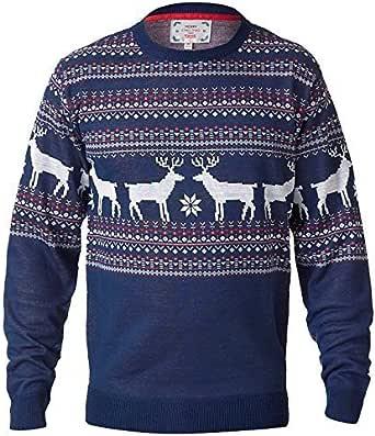 uomo Maglione natalizio D555 DUKE GADGET RENNA GRANDE misura king maglia maglione