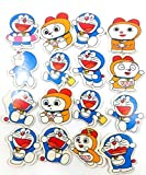 #7: Evisha colourful Doraemon erasers for school going kids/children/birthday return gift pack of 16 erasers