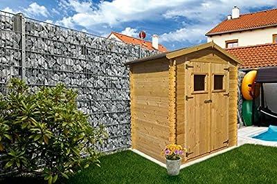 Blockbohlen Gartenhaus 19 mm Salzburg - L180 x B130 von Steiner Shopping bei Du und dein Garten