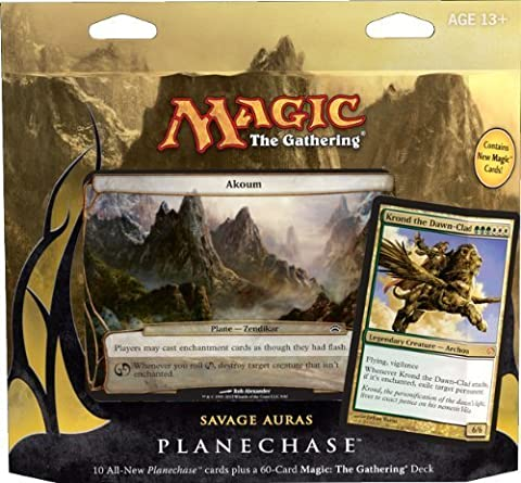 Magic the Gathering- MTG: Planechase (2012 Edition) Savage Auras - Game Pack by Magic: the