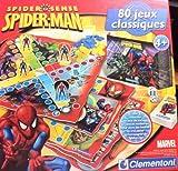 Clementoni–62279.5–Gesellschaftsspiel–80Spielesammlung–Spiderman