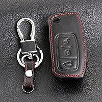 Alta calidad clave cadena anillo funda soporte de piel Para Ford Fiesta, Focus, 2