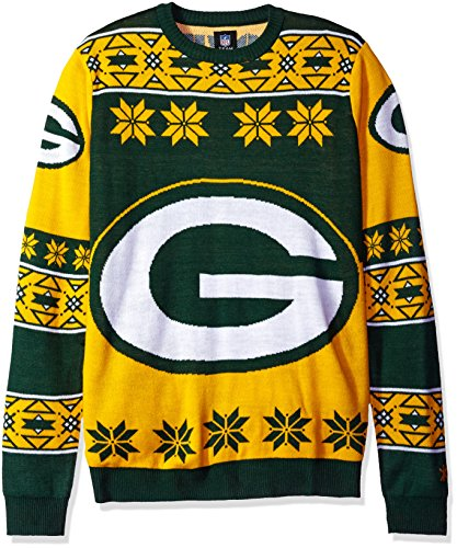 Klew NFL Big Logo Pullover XL Green Bay Packers Amazon Green