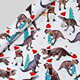 Dinos Christmas roll wrapping paper