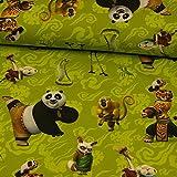 Baumwolljersey Digitaldruck Lizenstoff Kung Fu Panda