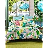 Kas Australia.- Conjunto de funda nordica Zia para cama de 90 (funda nordica en medida 160x220 + 1 funda de almohada de 50x90)