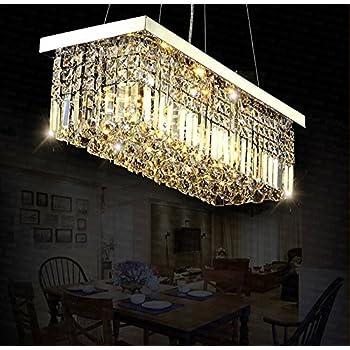 Siljoy rectangle crystal chandeliers ceiling lights modern pendant siljoy rectangle crystal chandeliers ceiling lights modern pendant light l100 x w25cm 220 240v aloadofball Gallery