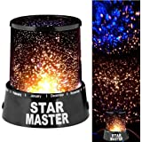Everbuy Tm Colorful Romantic Led Cosmos Star Master Sky Starry Night Projector Bed Light Lamp For Kid'S
