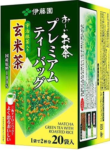 Itoen Premium Tee Bag Genmai Tea 1.8g - 20 peace - Green Tea - (Pack Type) (Itoen Grüner Tee)