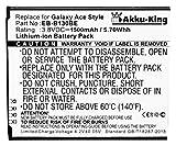 Akku-King Akku ersetzt Samsung EB-B130BE, EB-BG313BBE, GH43-04256A - Li-Ion 1500mAh - für Galaxy Ace 4 3G, Galaxy Ace NXT