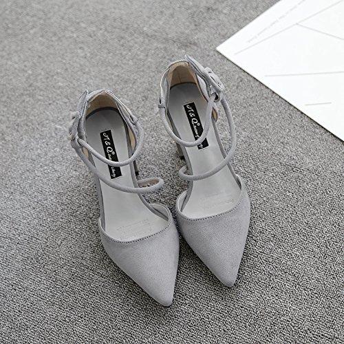 damen in high heels mit harten wildlederschuhe fuß ring - damen in high heels sandaletten schuhe, schuhe 35