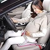 JOYEUX Cinturón de seguridad embarazada. Cinturón de uso obligatorio durante el embarazo, ajustable a cualquier asiento y coche (rosa)