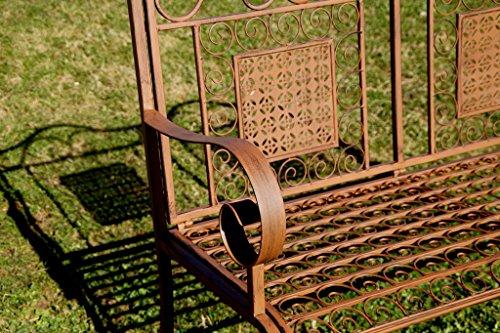 """Exklusive Gartenbank """"Yago"""", ergonomische Sitzfläche, Sitzbank in neuem Design und sehr stabiler Metallausführung - 3"""