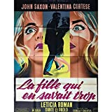 LA FILLE QUI EN SAVAIT TROP Affiche de film 120x160-1962 - Mario Bava, Litho