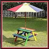 NEW KIDS Wooden Garden Picnic Table Bench Furniture Set Parasol Outdoor Gazebo by Skyline
