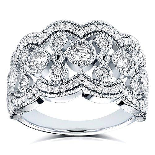 Con Diamanti Intelligent Da Donna 14k Bianco Oro 3 Pietra Originale Diamante Fidanzamento To Rank First Among Similar Products Anelli