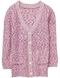Gymboree Little Girls' Long Sleeve Marled Cardigan