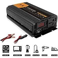 EVGATSAUTO Car Power Inverter EBTOOLS 1000W//2000W Inverter 12V DC a 110V AC Convertitore auto con 2 AC Out