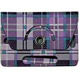 """KANICT 360° Rotating 7""""Inch Tablet Leather Flip Case Cover Compatible For IBall Slide Gorgeo 4GL"""