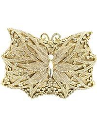 Pochette Donna Sera Borsetta Portafoglio Partito Cerimonia Borsa Sposa  Spalla Frizioni Eleganti Farfalla 96a0702bc2c
