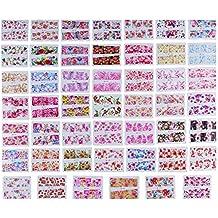 Domybestshop Pegatinas de Arte de Uñas de Patrón de Flores de Colores Pegatina de etiqueta Transferencia de agua