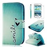 BestCool PU Leder Klapptasche für Samsung Galaxy S3 Mini