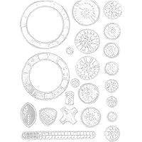 Spirographe Dessin Set Gears peinture Règle Deluxe Kit créatif dessin jouet éducatif pour les enfants 22pcs cadeaux…