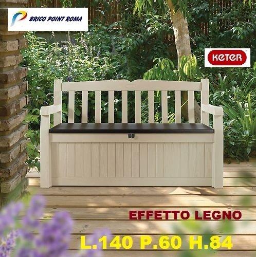 Panchine Da Esterno Roma.Cassapanca Garden Bench Beige Keter Amazon It Giardino E