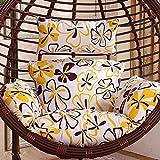 GWW Amaca Uovo Appeso Cuscino della Sedia,Stampa Colorata Swing Cuscini di Seduta E Cuscino Spessi Pad di Sedia A Dondolo Staccabili-Singolo-b