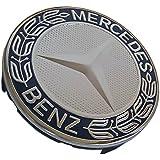 Mercedes Benz Llantas de aleación Centro tapón 75mm azul laureles Top * * de repuesto–de metal pulido de 4