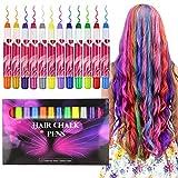 Buluri Pastel de pelo de 12 colores, Tinte para cabello no tóxico, Tinte Temporal para la edad 4 5 6 Plus Girls Boys, regalos perfectos para el cumpleaños de Navidad (12 Colores)