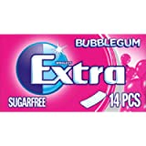 Extra Chewing Gum Sugar Free, Bubblegum Flavour, 12 Packs of 14 Pieces
