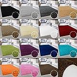 ayshaggy Shaggy-Teppich, Flauschige Hochflor Wohn-Teppiche, Einfarbig/Uni für Wohnzimmer, Schlafzimmmer, Kinderzimmer, Esszimmer in Rechteckig, Rund und Quadratisch