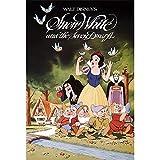 Disney Carte lenticulaire 3D Blanche-Neige Vintage Série Art 3D Carte postale Disney...