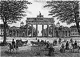 Einfarbige original Radierung Berlin, Brandenburger Tor von H.Sommer als loses Blatt, Graphik, kein Kunstdruck, kein Leinwandbild