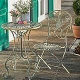 Sungmor Ensemble Table de Jardin Rustique en Fer forgé Style Shabby Rustique pour intérieur ou extérieur One Table...