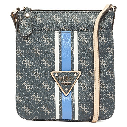 Guess College Logo Petite Cros To Zi Borsa a Mano, Donna, Blu (Midnight)