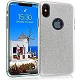 MyGadget Coque Silicone Paillette pour Apple iPhone X/XS - Protection 3 en 1 Hardcase...