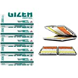 SweedZ Gizeh Lot de 5tubes de filtre à pointe verte, 5 x 200cm, avec étui