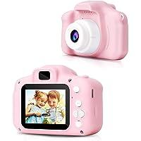 KEVIL Digital Camera, Recorder Camera 800W HD 2.0 Inch Screen Video Front Camera Child Camera (Pink)