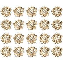 Gazechimp 20 piezas de Botónes Adornos Cuentas Brillantes de 20mm Cristal Diamante Artes Decoración de Ropa Casa Atractivos